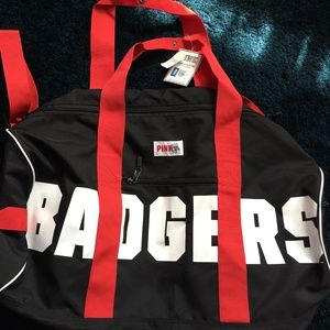 NWT - Pink - Black&Red Badger Duffel - OS